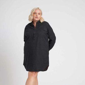 Universal Standard Charcoal Long Sleeve Dress